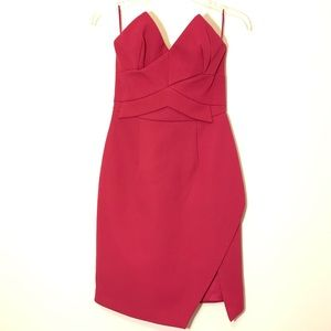 KEEPSAKE mini dress in a Magenta color Size S